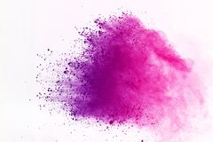 Colored powder explosion. Colore dust splatted. Abstract of colored powder explosion on white background. Multicolor powder splatted isolate. Colorful cloud stock images