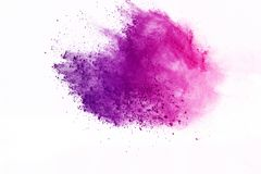 Colored powder explosion. Colore dust splatted. Abstract of colored powder explosion on white background. Multicolor powder splatted isolate. Colorful cloud stock photography
