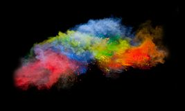 Colored powder Stock Photo