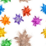 Colored powder explosion Royalty Free Stock Photos
