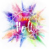 Colored powder explosion on white background. Royalty Free Stock Photo