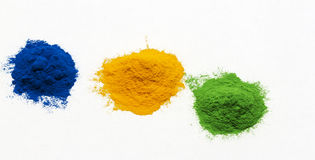 Colored powder Royalty Free Stock Images