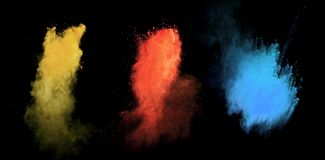 Colored powders Stock Photos