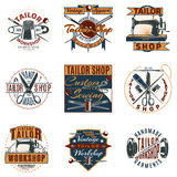 Colored Premium Tailor Shop Logotypes Set Stock Images
