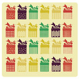 Colored presents Royalty Free Stock Photography