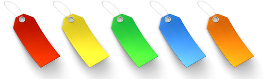 Colored Price Tags Royalty Free Stock Photos