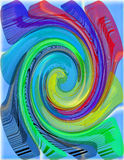 Colored psychedelic spiral Stock Photography