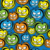 Colored pumpkin of seamless pattern Royalty Free Stock Photography