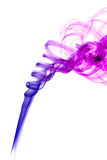 Colored purple smoke Royalty Free Stock Images