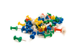 Colored push pins Royalty Free Stock Photography