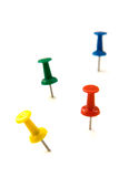 Colored push pins Royalty Free Stock Images