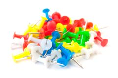 Colored Push Pins Royalty Free Stock Photo