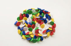Colored push pins on a white background Royalty Free Stock Photo