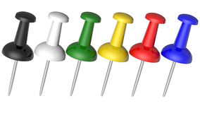 Colored pushpins Royalty Free Stock Photos