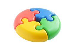 Colored puzzle Stock Photos