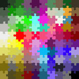 Colored puzzle Royalty Free Stock Images
