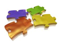 Colored puzzle Royalty Free Stock Photos