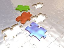 Colored puzzle Royalty Free Stock Photo