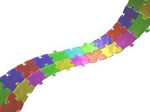 Colored puzzle Royalty Free Stock Image