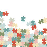 colored puzzle background stock illustration