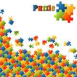 Colored puzzle background Royalty Free Stock Images