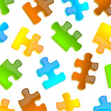 Colored puzzle background glossy style Stock Photography