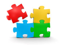 Colored Puzzle (clipping path included) Royalty Free Stock Photo