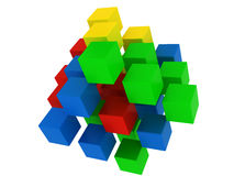 Colored puzzle cube Royalty Free Stock Photo