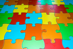 Colored puzzle floor Royalty Free Stock Photography
