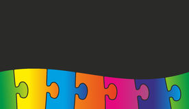 Colored puzzle pieces. As an abstract background Stock Photo