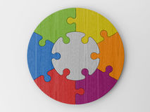 Colored puzzle pieces. Puzzle pieces to place your concepts with clipping path Royalty Free Stock Images