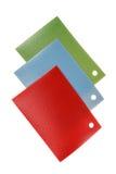 Colored PVC linoleum flooring samples Stock Photos