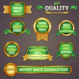 Colored quality labels set Royalty Free Stock Photo