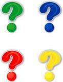 Colored question mark Stock Photo