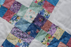 Colored quilt blocks Royalty Free Stock Photos