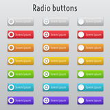 Colored radion buttons Royalty Free Stock Photography