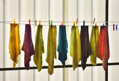 Colored rags Stock Image