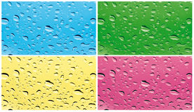 Colored rain on the glass Stock Photography