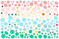 Colored rainbow dots background stock illustration