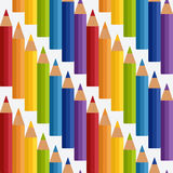 Colored rainbow pencils seamless pattern Royalty Free Stock Image