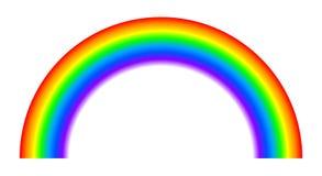 Colored rainbow - stock. Colored rainbow sign - stock stock illustration