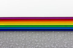 Colored rainbow stripes Stock Images