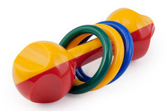 Colored rattle Royalty Free Stock Photo