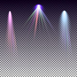 , colored rays on a plaid background, vector Royalty Free Stock Photo