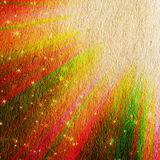Colored rays and stars Royalty Free Stock Photo