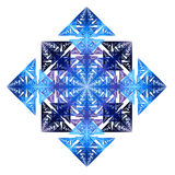 Colored rectangle. Rectangle composed of blue, violet and black segments - fractal Royalty Free Stock Photography