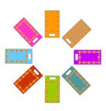 Colored rectangle labels set Stock Photos