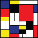 Colored rectangles and squares-s Stock Image