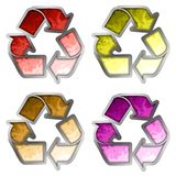 Colored recycle symbol Stock Image