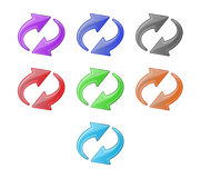 Colored recycling arrows set Royalty Free Stock Photos